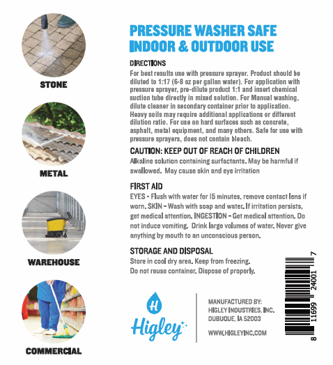Higley All Purpose Power Washing Fluid Directions